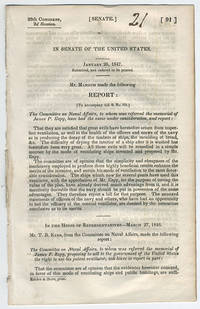 [drop-title] In Senate of the United States. Submitted, and ordered to be printed. Mr. Mangum made the following report: [To accompany bill S. No. 121.] The Committee on Naval Affairs, to whom was referred the memorial of James P. Espy, have had the same under consideration, and report: ...