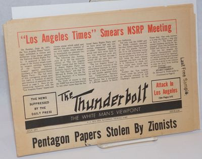 Savannah: the monthly, 1971. 16p., tabloid format newspaper, horizontal fold, evenly toned,