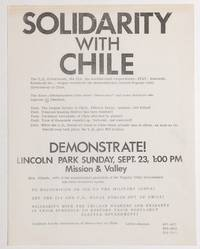 image of Solidarity with Chile... Demonstrate! Lincoln Park Sunday, Sept. 23, 1:00 PM [handbill]