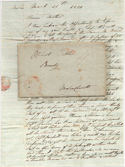 Naples, 1810. Unbound. Very good. This two-page stampless folded letter measures approximately 14.5