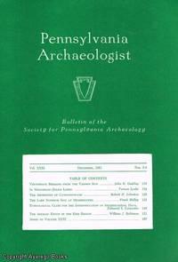 Pennsylvania Archeologist Vol. XXXI Nos. 3-4