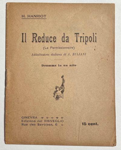 Ginevra: Ed. del Risveglio, . 29p., staplebound booklet, paper toned, minor corner chipping. Script ...