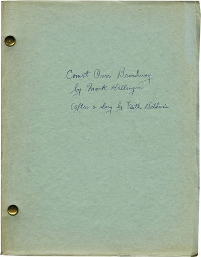Burbank, CA: Warner Brothers, 1938. Final Draft script for the 1938 film. From the library of produc...