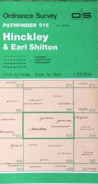 Hinckley & Earl Shilton Pathfinder map sheet 915 by Ordnance Survey - 1987 - from Acanthophyllum Books and Biblio.com