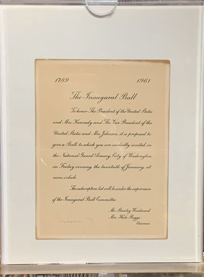 Original Invitation to the Inaugural Ball of John F. Kennedy on Friday evening, January 20, 1961. Th...