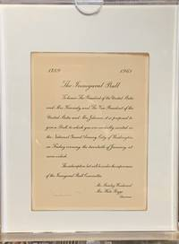 JOHN F. KENNEDY INAUGURAL BALL INVITATION