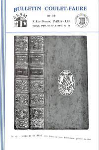 Bulletin  N19 : Livres anciens et romantiques