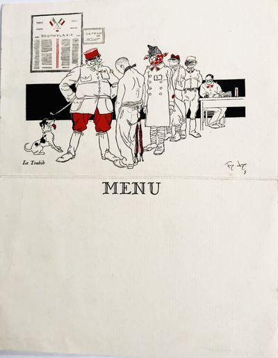 Paris: Dreager Imp., c. 1930's. Cards. Color illustrated cards. Very good. 18 x 14 cm. (open). Amusi...
