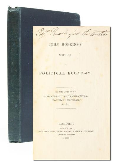 London: Longman, Rees, Orme, Brown, Greene & Longman, 1833. First edition. Near Fine. Publisher's cl...