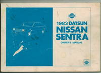 1983 Datsun Nissan Sentra Owner's Manual