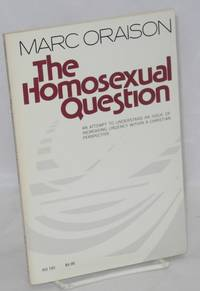 The homosexual question