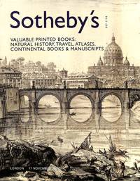 Sale 17 November 2005: Valuable printed books: natural history, travel,  atlases, continental books & manuscripts.