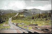 image of Riding Boards on Mt Washington, White Mountains, NH - Undivided Back Pre-1908 Postcard
