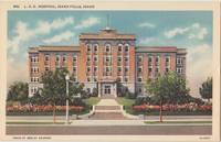 LDS Hospital, Idaho Falls, Idaho, unused linen Postcard