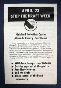APRIL 23 STOP The DRAFT WEEK.  Oakland Induction Center - Alameda County Courthouse