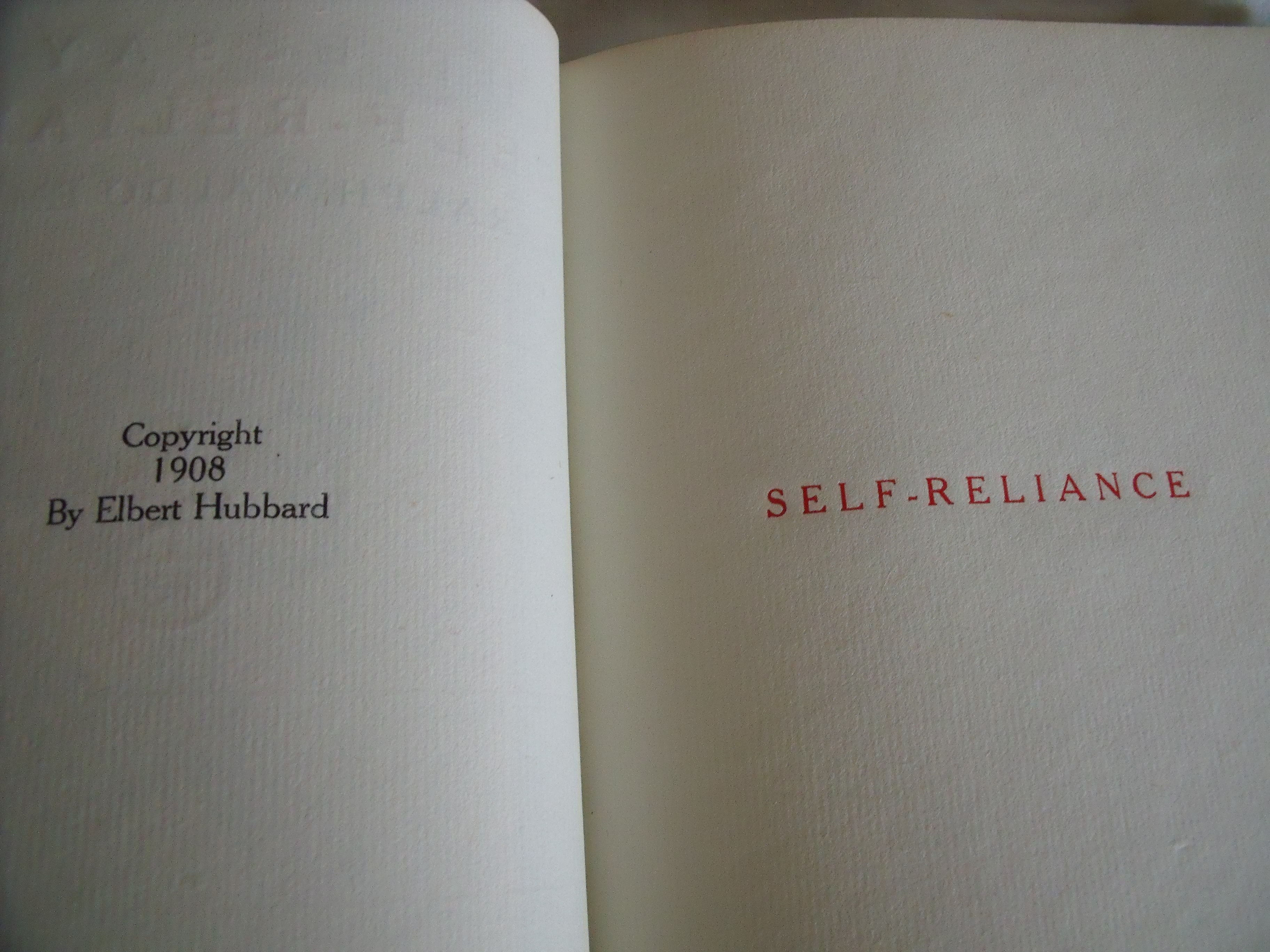 emerson self reliance essay full text Self-reliance: self-reliance, essay by ralph emerson's doctrine of self-sufficiency and self-reliance arose naturally from his any text you add should.