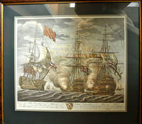 Battle of Cape Finisterre in 1747, HMS IINTREPID Litho Print - 70 gun Man o' War captured by the English