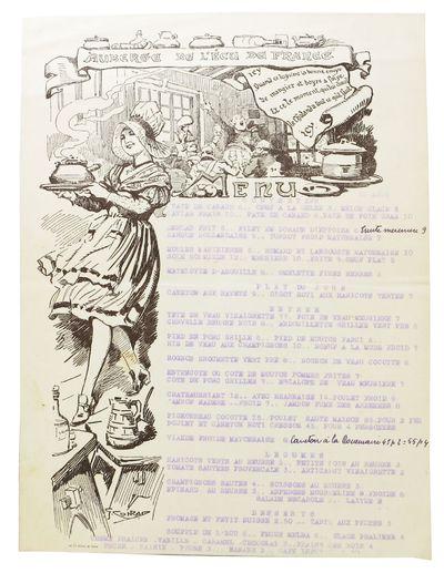 (n.p.): Imp. Cle. Journal De Rouen, 1935. 1st Printing. White paper leaf, printed in brown, typed in...