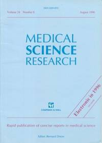 Medical Science Research  Volume 24, No. 8, August 1996