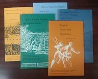 Folger Booklets on Tudor and Stuart Civilization [5 volumes] (titles: English Sports and Recreations, The English Church in the Sixteenth Century, Music in Elizabethan England, Early English Gardens and Garden Books, Shakespeare's Theatre and the Dramatic Tradition)