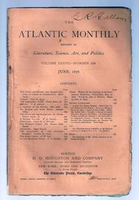 """""""The Facts Concerning the Recent Carnival of Crime in Connecticut"""" in THE ATLANTIC MONTHLY, June, 1876"""