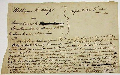 [Frederick County, Maryland, 1810. Small broadside, 5