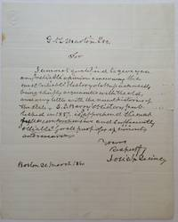 Autographed Letter Signed about Massachusetts history