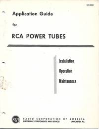 Application Guide for RCA Power Tubes  (1964 Publication)