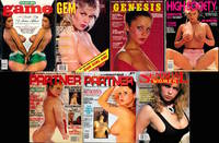 Game / Gem / Genesis / High Society / Partner / Sensual Women (7 vintage adult  magazines, Joanne...