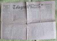 Telegraph (belfast telegraph), Monday November 11, 1918,  Special Bulletin, Germany Surrenders, Armistice Signed, Hostilities Cease