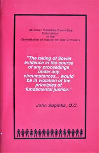 image of Ukrainian Canadian Committee Submission to the Commission of Inquiry on War Criminals