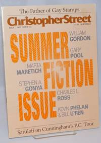 Christopher Street: vol. 14, #22, July 7, 1992, whole #182; Summer fiction issue