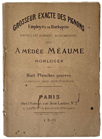 Paris:: chez l'Auteur, .. 137 x 191 mm. 3 pp. 8 pls. Original brown printed wrappers. Bookplate of L...