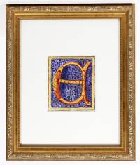 "Illuminated Manuscript: Large Initial ""E"