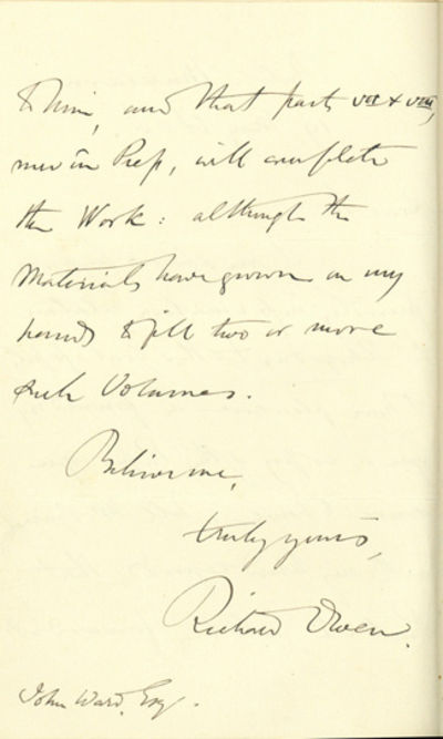 London: Wyman & Sons, 1867. Presentation Copy with Autograph Letter Signed Owen, Richard (1804-92). ...