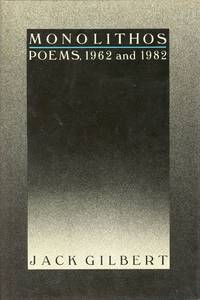 image of Monolithos: Poems, 1962 and 1982