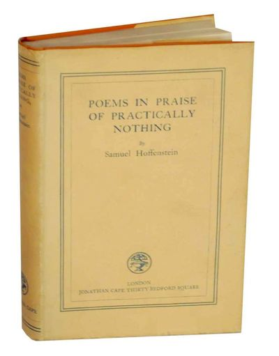 London: Jonathan Cape, 1929. First edition. Hardcover. 217 pages. A collection of poems from this Os...