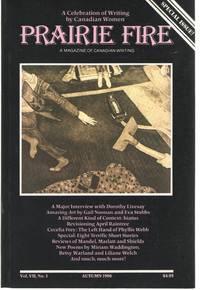 Prairie Fire Vol. VII, No 3, Autumn 1986