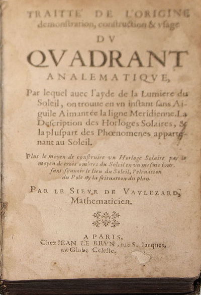Paris: Jean Le Brun, 1644. First edition of this description of an instrument by a Mersenne correspo...