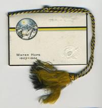 West Point Hop card, U. S. M. A.  Winter Hops 1923- 1924