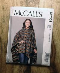 image of McCALL'S SEWING PATTERN: #MP508 : MISSES PONCHO AND BELT