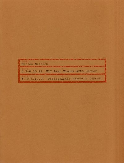 Cambridge: MIT List Visual Arts Center, 1991. First Edition. Soft cover. Very Good. Quarto. Brownish...