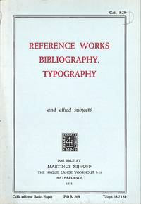 Catalogue 820/1971: Reference Works, Bibliography, Typography.