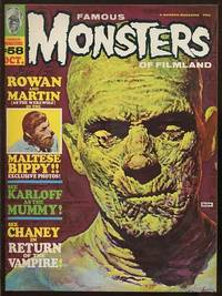 Famous Monsters of Filmland (#58, October 1969) [cover illustration: Boris  Karloff in THE MUMMY]