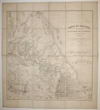 Carte du Mexique représentant le Plateau de l'Anahuac et son Versant oriental