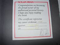 NOLAN RYAN. THE AUTHORIZED PICTORIAL HISTORY