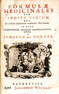 Formulae Medicinales cum Indice Virium quo Ad inventas indicationes inveniuntur Medicamina. In Usum Medicorum praxin inchoantium