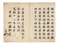 Manuscript on paper, entitled on upper cover Koshosai jugyo seishi roku [List of Class Participants for the Lectures by Koshosai]