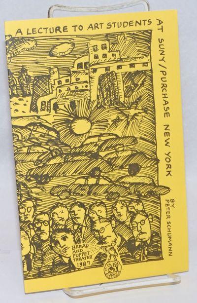 St. Johnsbury, VT: Troll Press; Bread and Puppet Theater, 1989. 15p., staplebound pamphlet, very goo...