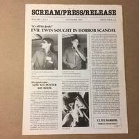 SCREAM/PRESS/RELEASE VOLUME 1, NO. 4 September, 1985